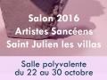 Affiche de l'exposition à Saint Julien les villas
